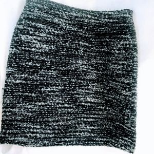 Ann Taylor Eyelet A Line Gray Mini Skirt